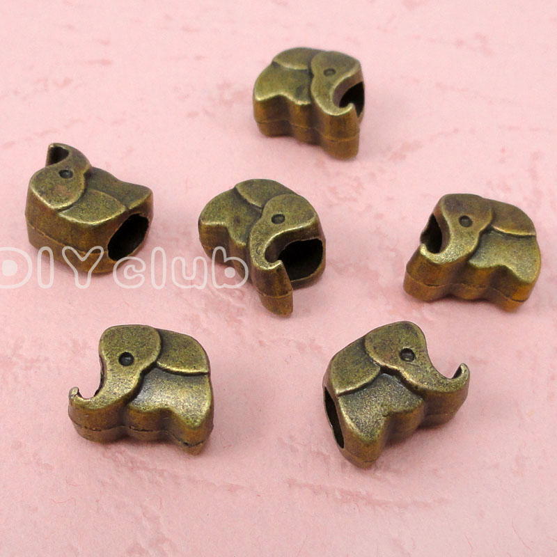 60pcs-Antique Bronz Fil Boncuk 11x8x7mm