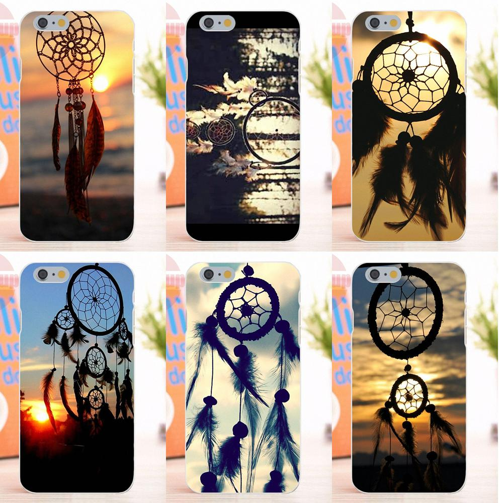 EJGROUP Dream Catcher Sunset Yumuşak Silikon TPU Şeffaf Sanat Kapak Kılıf Apple iPhone 4 4 S 5 5 S 5C SE 6 6 S 7 8 X Artı