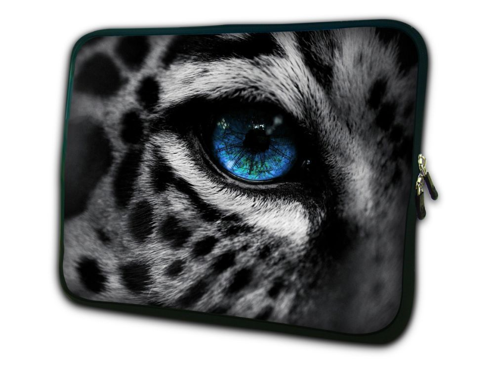 "Leopar Göz Notebook Çantası Kapak Tablet Çantası Laptop Kol Çantası 7 ""10 '' 12 '' 13 '' 14 '' 15 '' 17 '' Macbook Hp Dell Laptop Çantası"