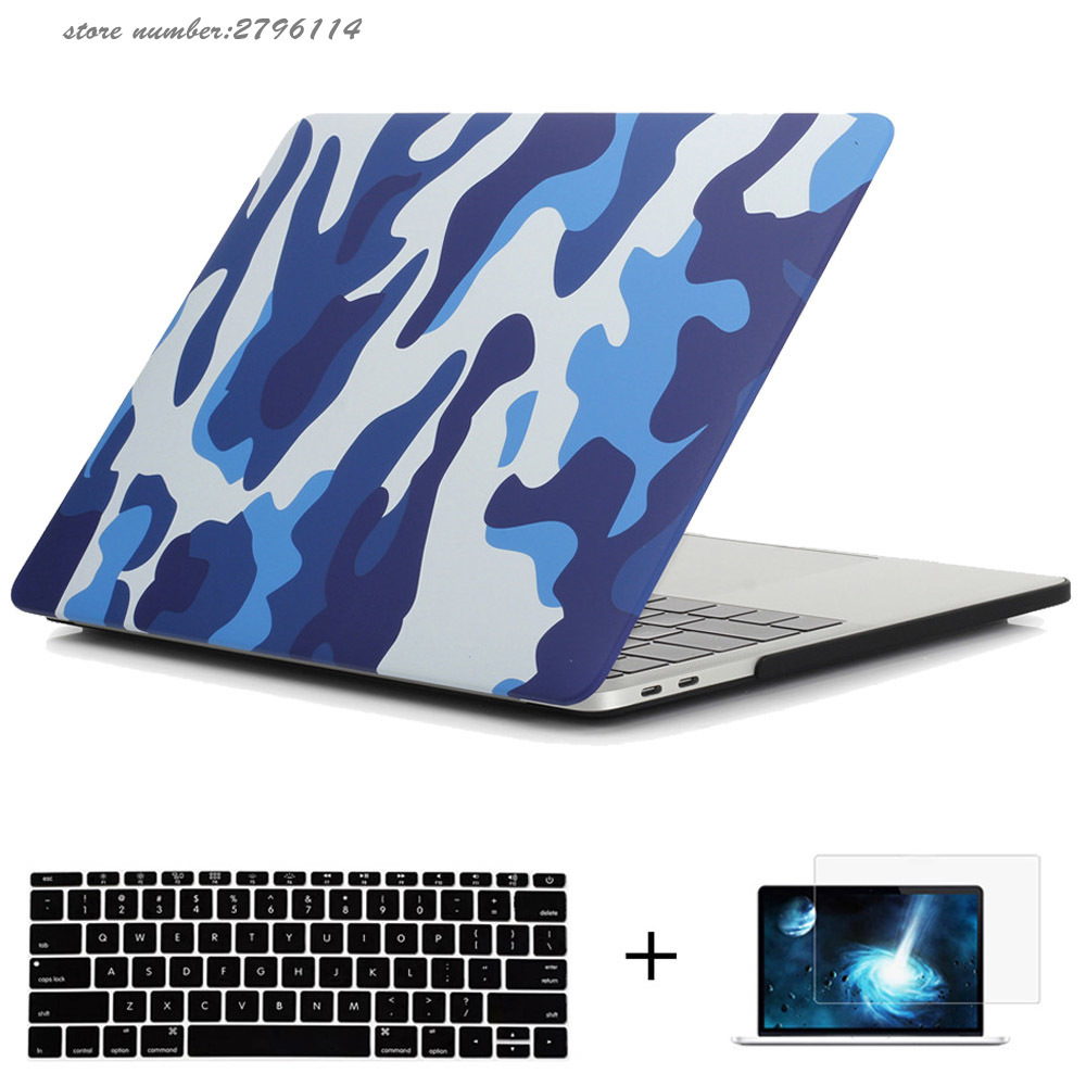"Macbook Pro Için askeri Kamuflaj Hard Case Plastik Kabuk Korumak 13/15 Dokunmatik Bar ile A1706/A1707 case for mac Pro 13 ""A1708"