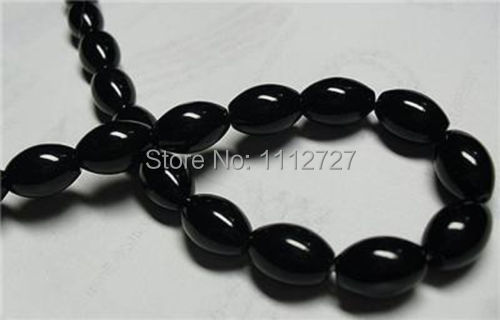 "Hot 2017 new fashion style 8x12mm Black Rich Onyx Loose Beads Accessory Parts Jewelry Natural Stone 15""BV234 Wholesale Price"