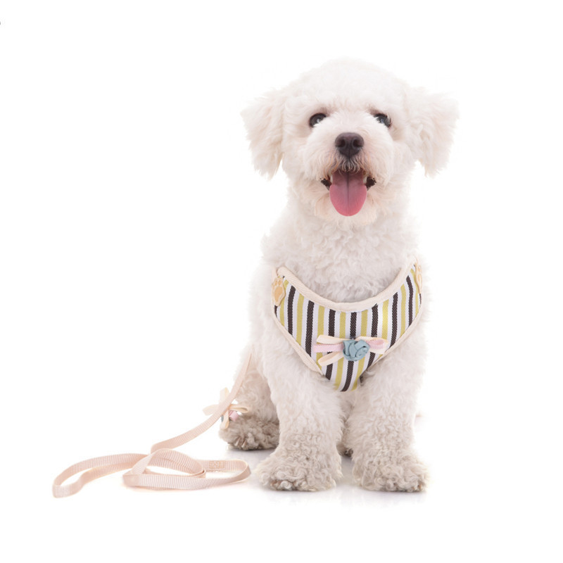 Hot selling dog harness Adjustable Soft Breathable Dogs Air Mesh Vest Harness Dogs Puppy Collar Cat Pet Dog Chest Strap Leash