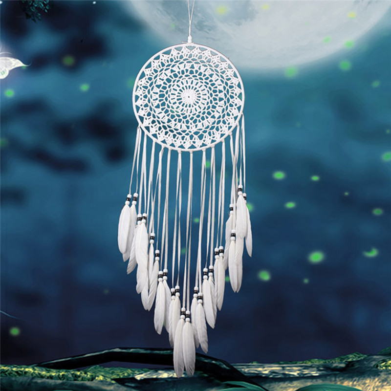 Vintage Enchanted Forest Mini Dreamcatcher Tüy Dekorasyon Ev Süsleme Dromenvanger Ile El Yapımı Dream Catcher Net