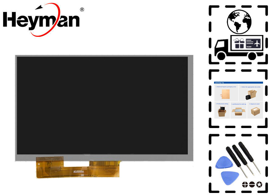 "Heyman 7''size LCD ekran Çin-Tablet PC için 7 ""Tablet, (7"", (1024*600), (164*97mm), 50 pin)"